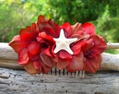 Starfish Hair Comb, Mermaid Hair Comb,Beach Weddings, Starfish Hair, Couture Bridal Hair Comb, Bridal Hair Fascinator, Destination Weddings