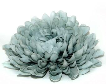 Jumbo Powder Blue Mum - Artificial Flowers, Silk Flower