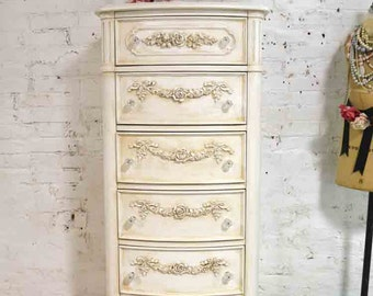 Painted Cottage Chic Shabby Lingerie Chest CH852