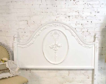 Painted Cottage Pink Romantic French Bed Twin Full/Double DANBED