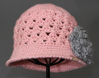 Crochet PATTERN Chloe Cloche Girls Crochet Hat Pattern Includes 5 Sizes for Baby, Toddler, Child, Girls and Ladies Crochet Hat Pattern