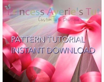 4 INSTANT DOWNLOAD TUTORIAL Pattern SeWn Tutus Pack All 4 Ribbon Trim Tutus