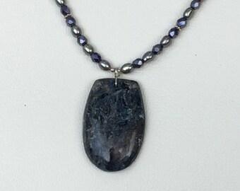 Blue world pendant necklace
