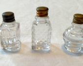 Lot of 3 Vintage Miniature Perfume Bottles