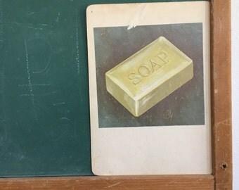 Vintage School Flashcard- Soap