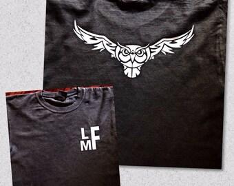 monogram owl t shirt