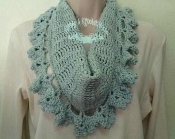 Crochet Scarf, Crochet Cowl, Scarf, Cowl, Neck warmer, Infinity Scarf, Crochet, Lacy, Scarflette, Accessory, Women, Winter wear, Winter