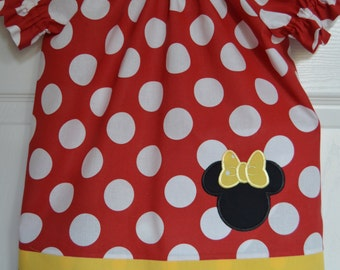 Minnie Classic Peasant Dress (extra for personalization)