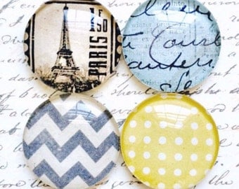 Glass Magnets - Magnets - Office Supplies - Decorative Magnets - Office Accessories - Glass Magnet - Office Decor - Fridge Magnets - Chevron