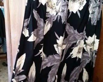 Ladies Floral Skirt--Gorgeous --sz L --early 1990s style -- 20-50% off Clothing SALE