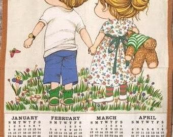 Vintage Calendar 1989 Tea Towel
