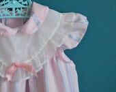 Vintage Pink Striped Dress by Polly Flinders - Size 4T