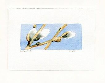 Miniature Original Watercolor Painting - Art Card