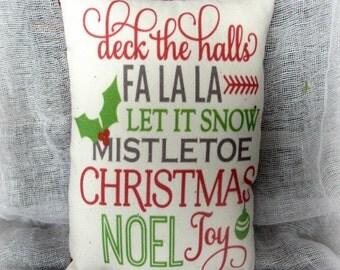 Christmas Pillow Tuck   Christmas words   Holiday Pillow   Holiday decor   Christmas word art   Christmas subway art   Christmas decoration