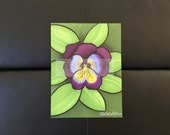 pansy | pen & marker drawing | colorful art | nature | flower | floral | bright