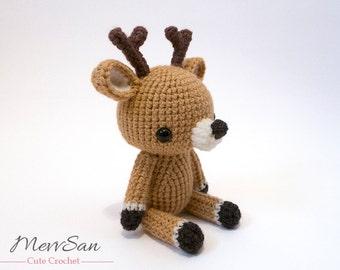 Crochet PATTERN PDF - Amigurumi Woodland Critter Deer- crochet animal pattern, amigurumi deer pattern, deer plush, cute crochet deer toy