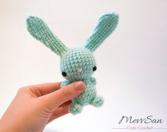 MADE to ORDER - Amigurumi Bunny Rabbit - amigurumi crochet bunny rabbit plush, crochet rabbit softie, Easter rabbit, jackrabbit hare