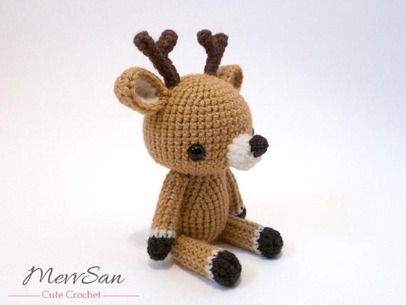 Crochet PATTERN PDF - Amigurumi Woodland Critter Deer