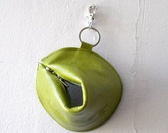 ON SALE 1+1 Fortune cookie wallet ,The Perfect Gift - Green apple