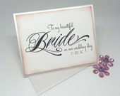 Wedding Card For Bride, To My Beautiful Bride, Newlywed Card, Wedding Day Card, Vintage Inspired