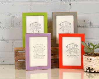 4x6 inch Picture Frame in Peewee Style and in Finish Color OF YOUR CHOICE - Handmade 4x6 Photo Frame - Gallery Frame 4 x 6