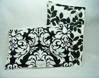 Nodda Sponge in Dandy Damask in Black - Sponge Set - Dish Cloth - Cleaning Cloth - Eco Friendly - Ready To Ship