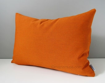 Orange Spark Outdoor Pillow Cover, Modern Sunbrella Pillow Cover, Decorative Pillow Cover, Solid Orange Cushion Cover, Throw Pillow Cover
