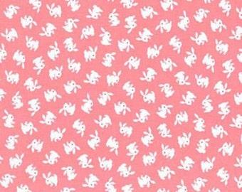 NAPTIME 2 Pink Bunnies 1930s Fabric Darlene Zimmerman Robert Kaufman ADZ15367122