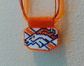 Denver Broncos Beaded Necklace