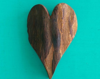 HEART of the HOME Wall Decor Carved in Maria Wood, Rustic Home Decor, Wood Carving, House Warming Gift, Wedding Gift, Wood Heart Ornament