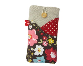 Red iPhone 6 Case, iPhone 6 Sleeve, iPhone 6S Case, iPod 6, iPhone 6S Plus Pouch, Fabric iPhone Case, iPod 5G, iPhone 6 Plus Case, iPhone SE