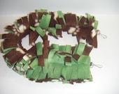 Sugar Glider, Fleece Rope, Fleece Vine, Fleece Chain, Brown, Green, Paw Print, Fleece Toy, Sugar Glider Toy, Hanging Toy, Cage Toy