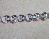 Mickey Mouse push pins, pushpins, disney character, decorative pins, office decor, decorative tack, set of eight