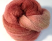 Dried Rose Felting Wool, Corriedale Felting Fiber, Spinning Fiber Sample