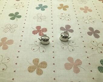 20pcs 15x17x10mm Pot/kettle/tea pot Antique Silver Retro Pendant Charm For Jewelry Pendant