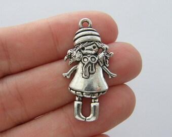 BULK 20 Girl charms antique silver tone P455 - SALE 50% OFF