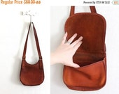 ON SALE 1970s Coach Bag / 70s Saddle Brown Leather Coach Shoulder Bag