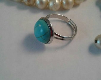 Turquoise Ring,Adjustable Ring