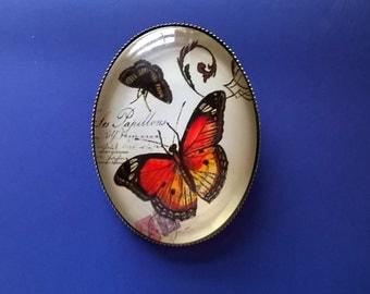 Butterfly Brooch,Nature Brooch,Cameo Brooch
