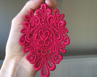 Tropic rose lace earrings/ New shades/ long earrings