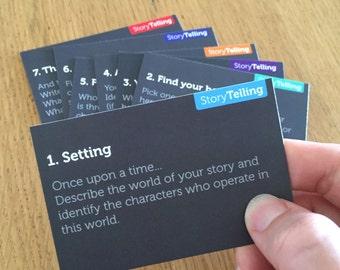 Hero's Journey Storytelling Prompt Cards and digital Worksheet PDF