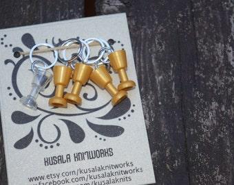 Lego Wine Goblet Stitch Markers-Set of 5