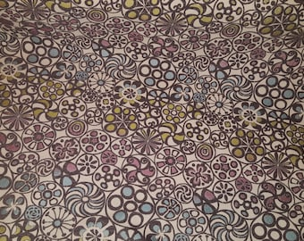 Grey  PINWHEEL Pattern CHENILLE Blue, Lime,Lavender Upholstery Fabric, 22-13-23-0512