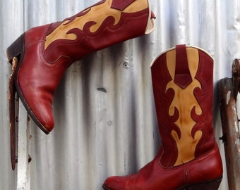 1970's cowboyl boots by Gringo, size 7