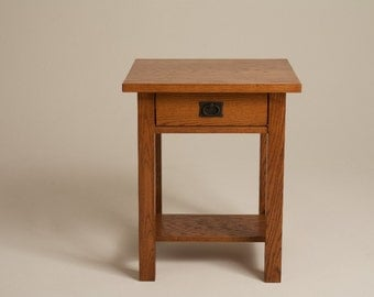 Mission Arts U0026 Crafts Stickley Style Nightstand Bed Side End Table