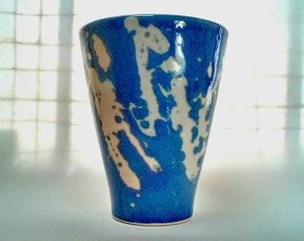 Blue Imperial Pint Wheel Thrown Drinking Cup