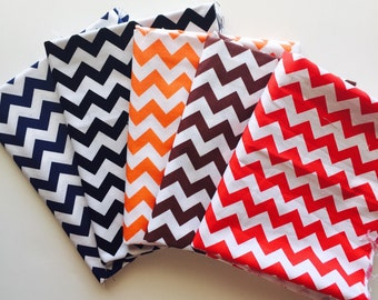 "SALE.. ONLY ONE Small Chevron ""darks"" 1/2 yard bundle, from Riley Blake designs, 5 fabrics total"