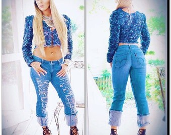 S M Ocean blue boho sequin crop top, Electric daisy Carnival concert, Spell Gypsy spring festival trends, blue crop top True rebel clothing