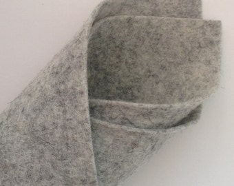 Light Grey Fleck - BioFelt Natural Colour - 100 % Wool Felt
