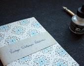 "Vintage Wallpaper Notebooks (Blue Flowers: Classic size 5x7"")"